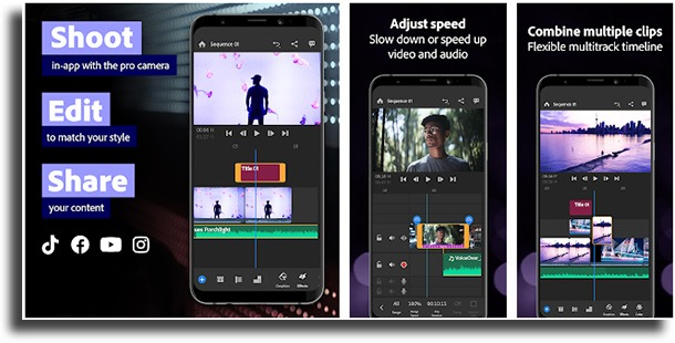 Adobe Premiere Rush best Android video editors