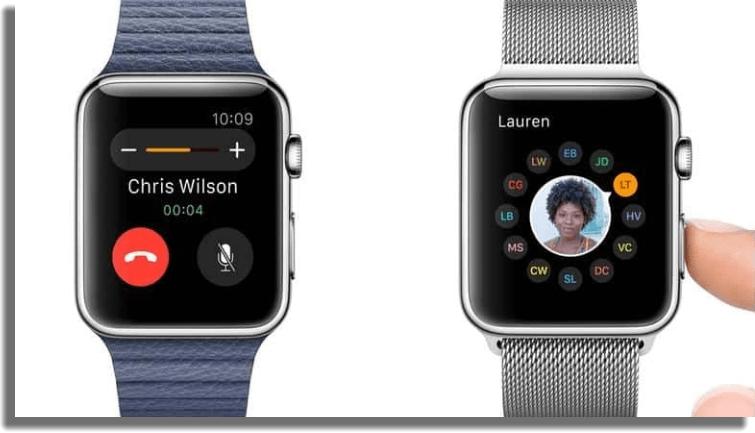 responder llamadas apple watch