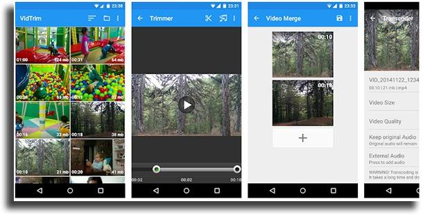 VidTrim best Android video editors