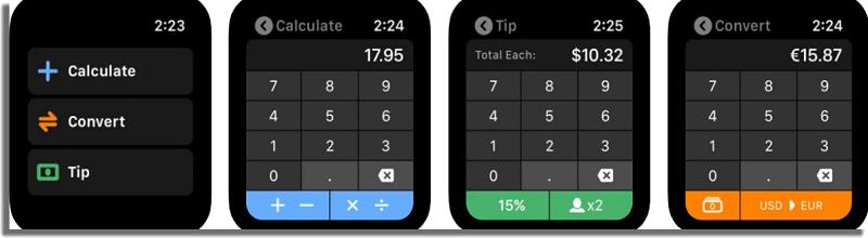 Calcbot 2 aplicaciones para Apple Watch