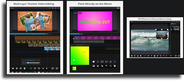 Cute CUT free video editing apps