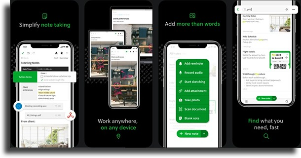 Evernote Alternatives to Apple Notes
