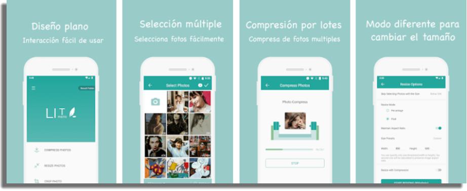 Lit Photo aplicaciones para comprimir imágenes