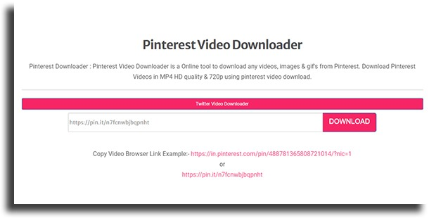 ExpertsPHP baixar vídeos do Pinterest