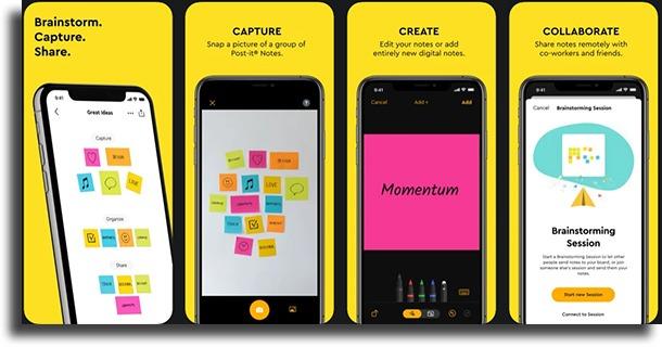 Post-it Alternativas ao Notas do iPhone