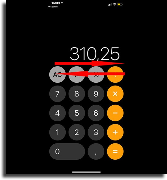 Delete only one number on the calculator app things your iPhone can do