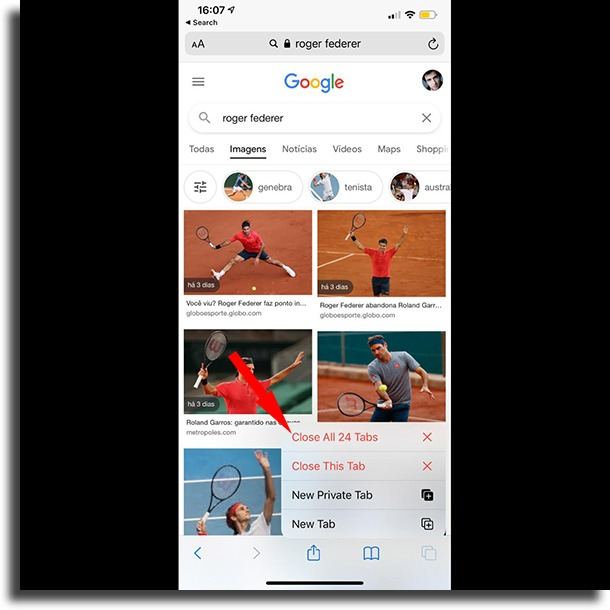 Close all opened tabs in Safari at once