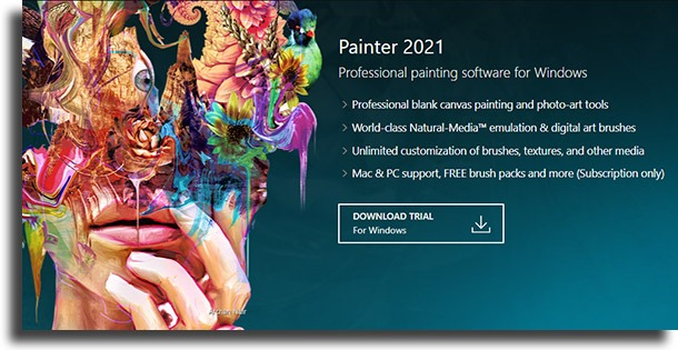 Corel Painter drawing apps and websites