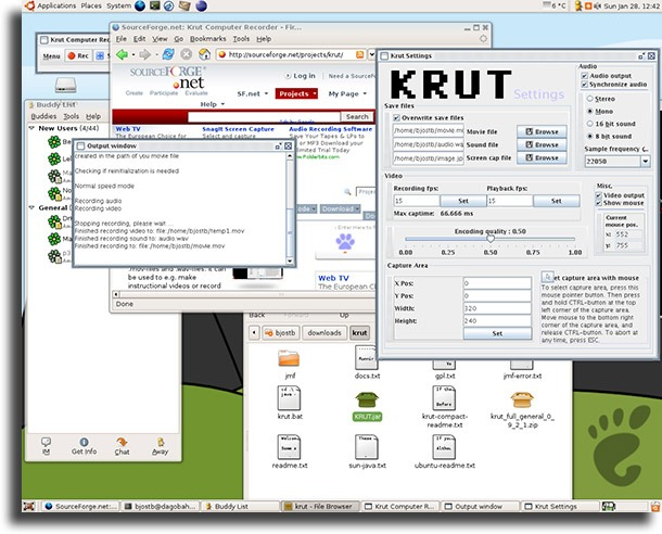 Krut screen recorders for Linux