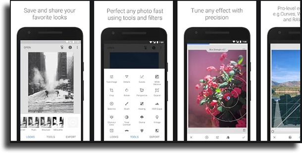 Snapseed wrinkle remover apps for Android