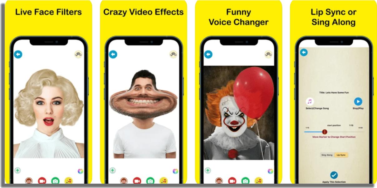 Crazy Helium Funny Face Voice cambiar la voz