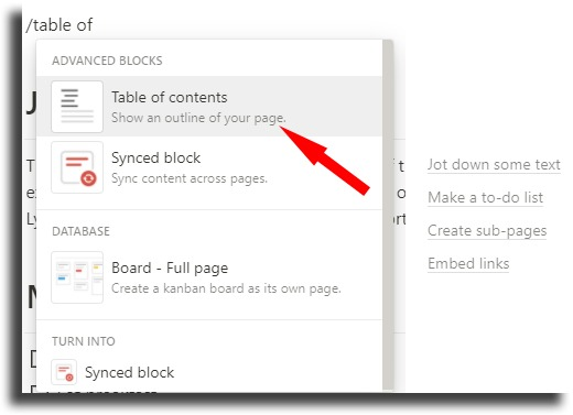 Create a content index notion tips and tricks