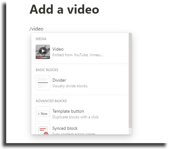 Add videos on pages
