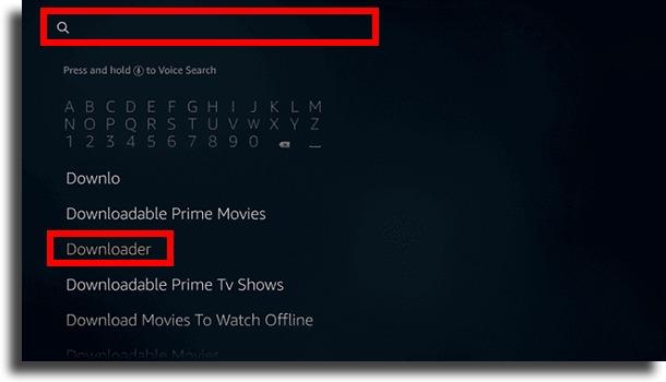 buscar o downloader instalar Google Play Store no Fire TV