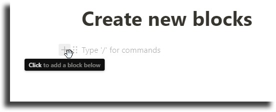 Create new blocks notion tips and tricks