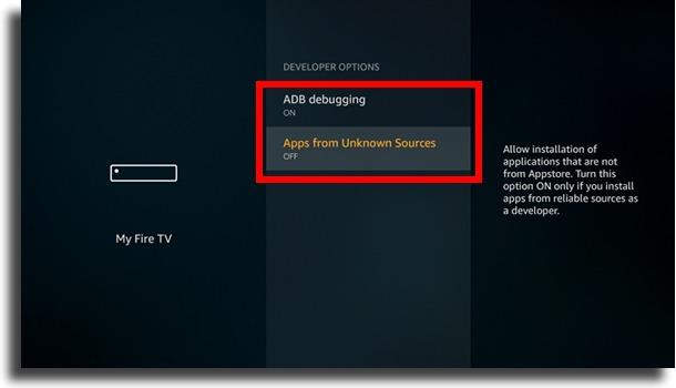 apps de fontes desconhecidas instalar Google Play Store no Fire TV