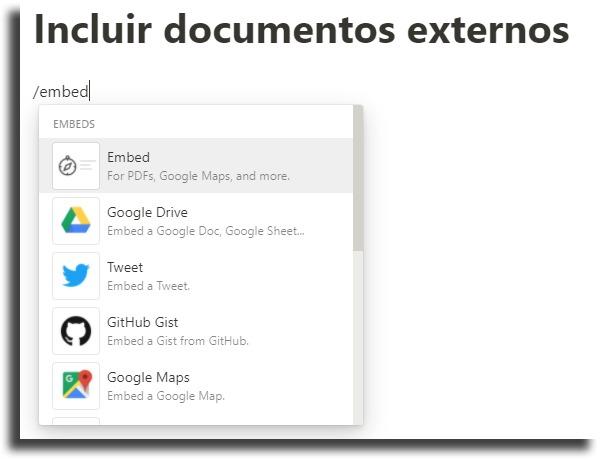 Incluir documentos externos dicas e truques do Notion