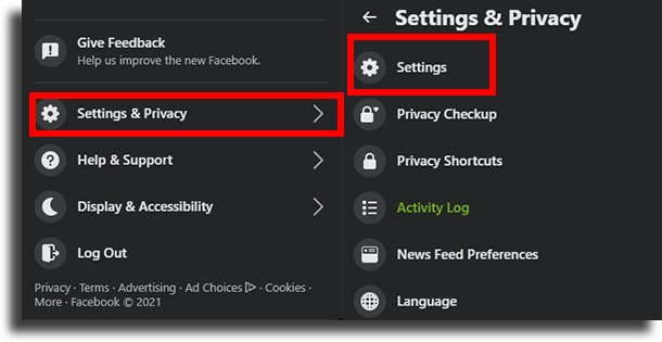 settings and privacy Facebook account was hacked