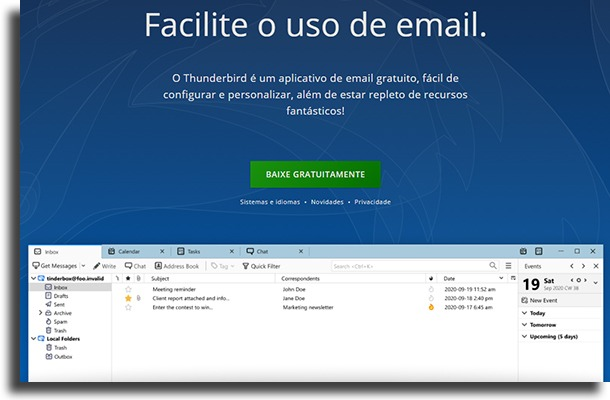 Thunderbird apps de e-mail para Windows