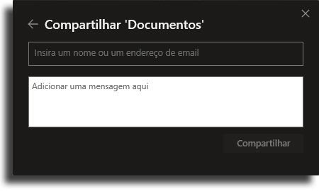 digitar o email melhores dicas e truques do OneDrive