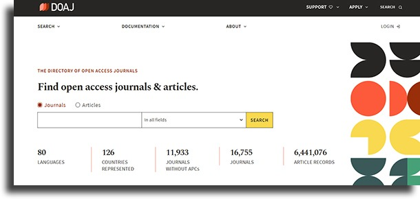 Directory of Open Access Journals navegar por la deep web