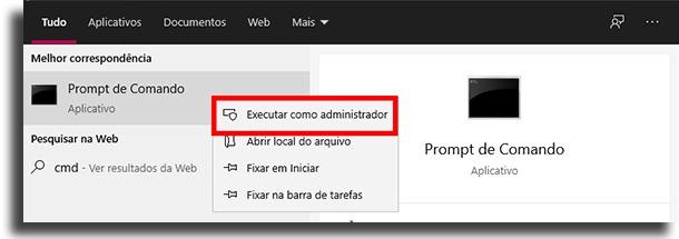 executar como administrador Windows 10 está ativado