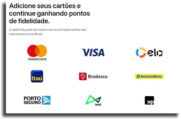 quais são os bancos compatíveis com Apple Pay