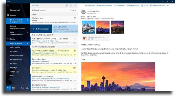 Windows Mail apps de e-mail para Windows