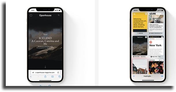 Safari novidades do iOS 15