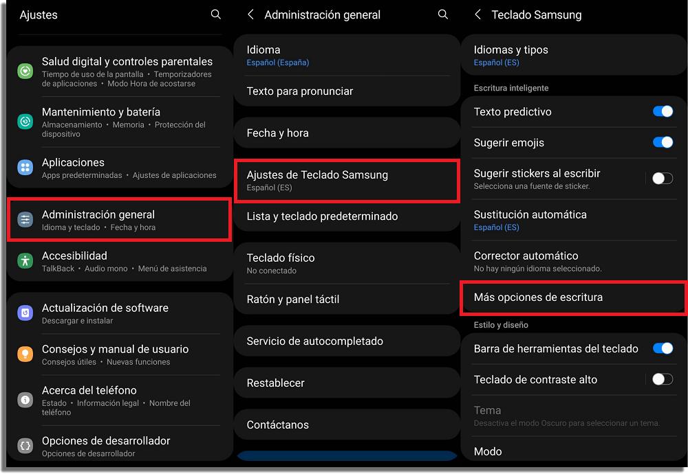 atajos de texto teclado samsung android