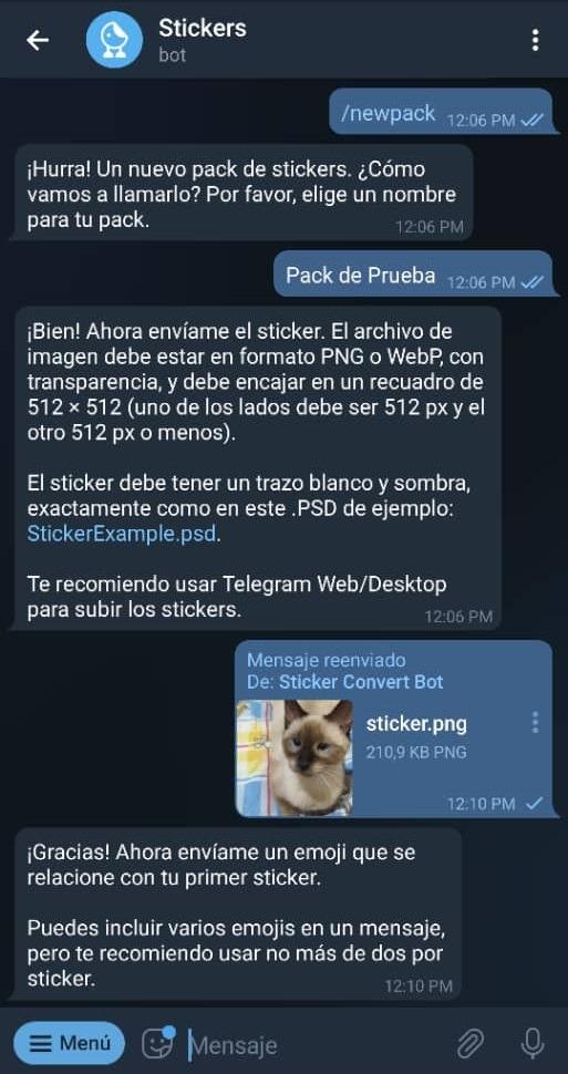Paso 12 Cómo crear stickers en Telegram