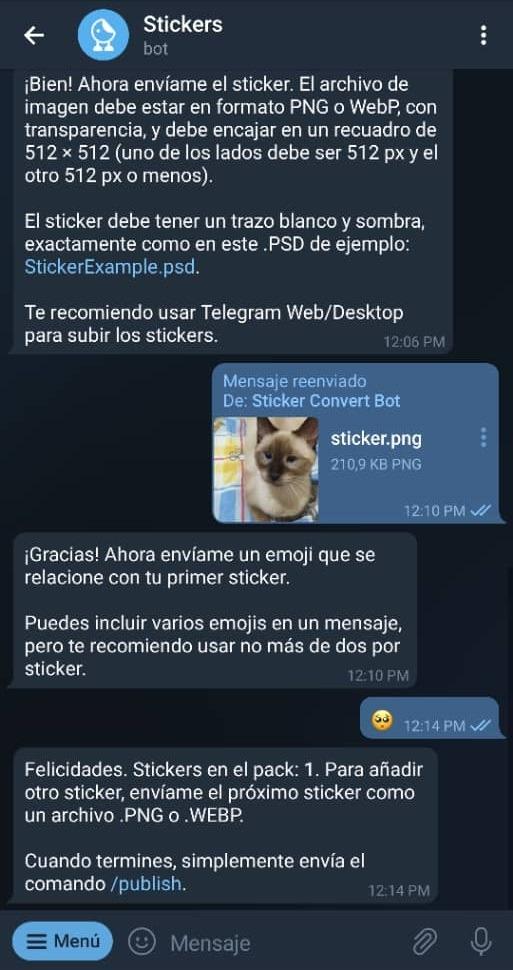 Paso 13 Cómo crear stickers en Telegram
