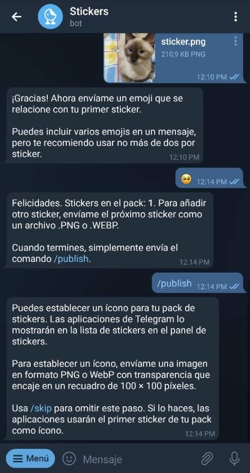 Paso 14 Cómo crear stickers en Telegram