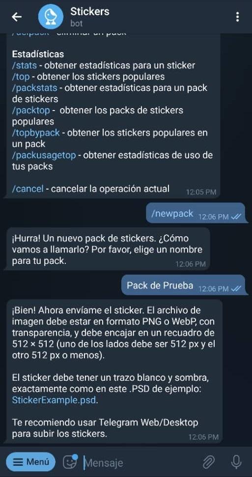 Paso 6 Cómo crear stickers en Telegram