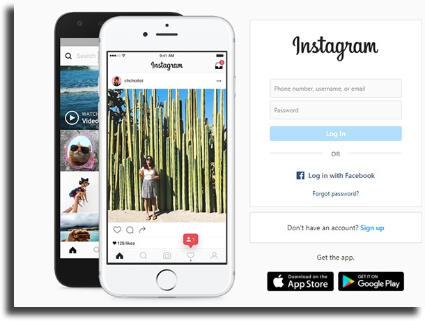 log into instagram post on Instagram from PC