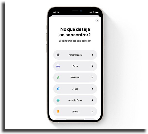 Foco novidades do iOS 15