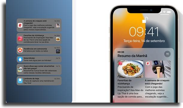 notificações novidades do iOS 15