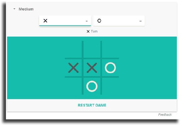 playing play Google's secret Tic Tac Toe