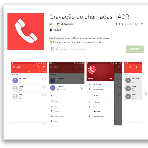aplicativos automação para Android ACR