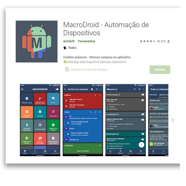 aplicativos automação para Android MacroDroid