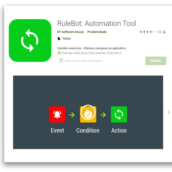 aplicativos automação para Android RuleBot