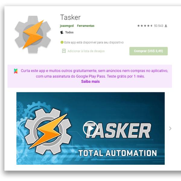 aplicativos automação para Android Tasker