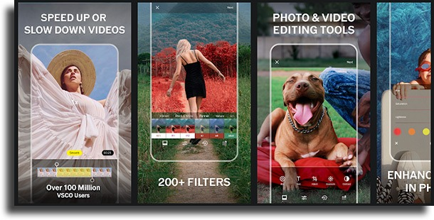 VSCO most used photo apps