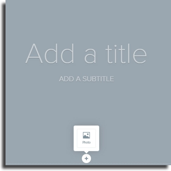 add title and subtitle Adobe Spark Page