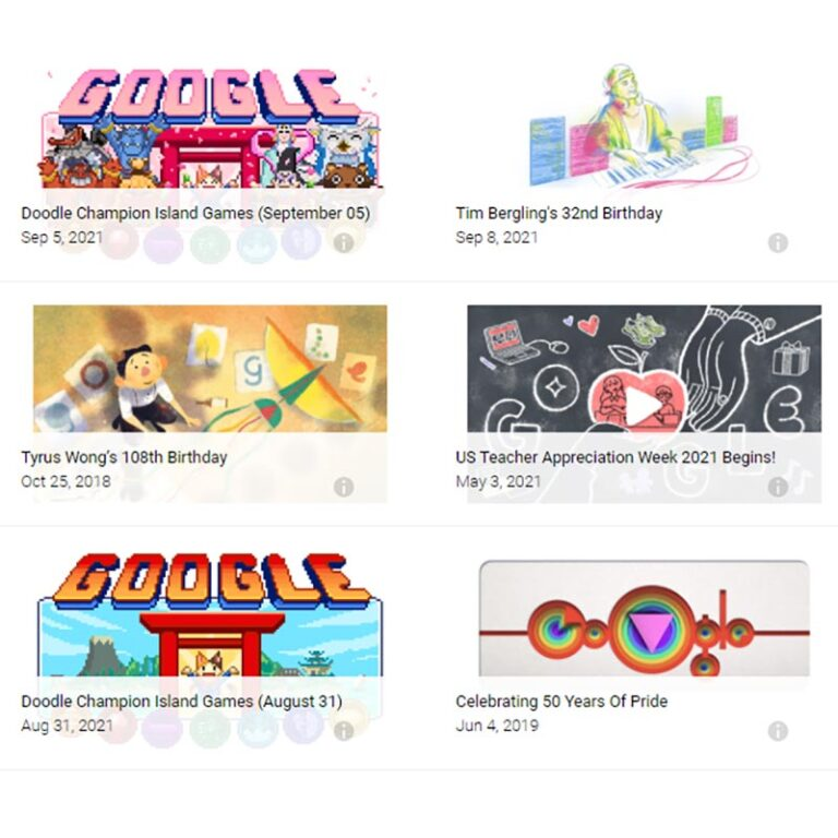 Google Doodle games: The top 10 most well-known!