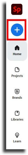 create new Adobe Spark Page