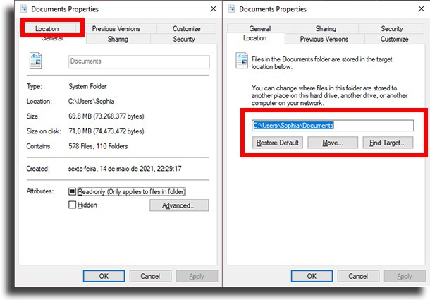 LOCATION MOVE  OneDrive tips and tricks