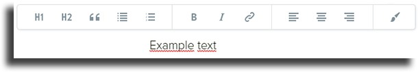 text options Adobe Spark Page